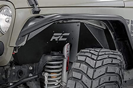 Exterior Accessories Rear Inner Fender Liners,with 2 LED Lights ...