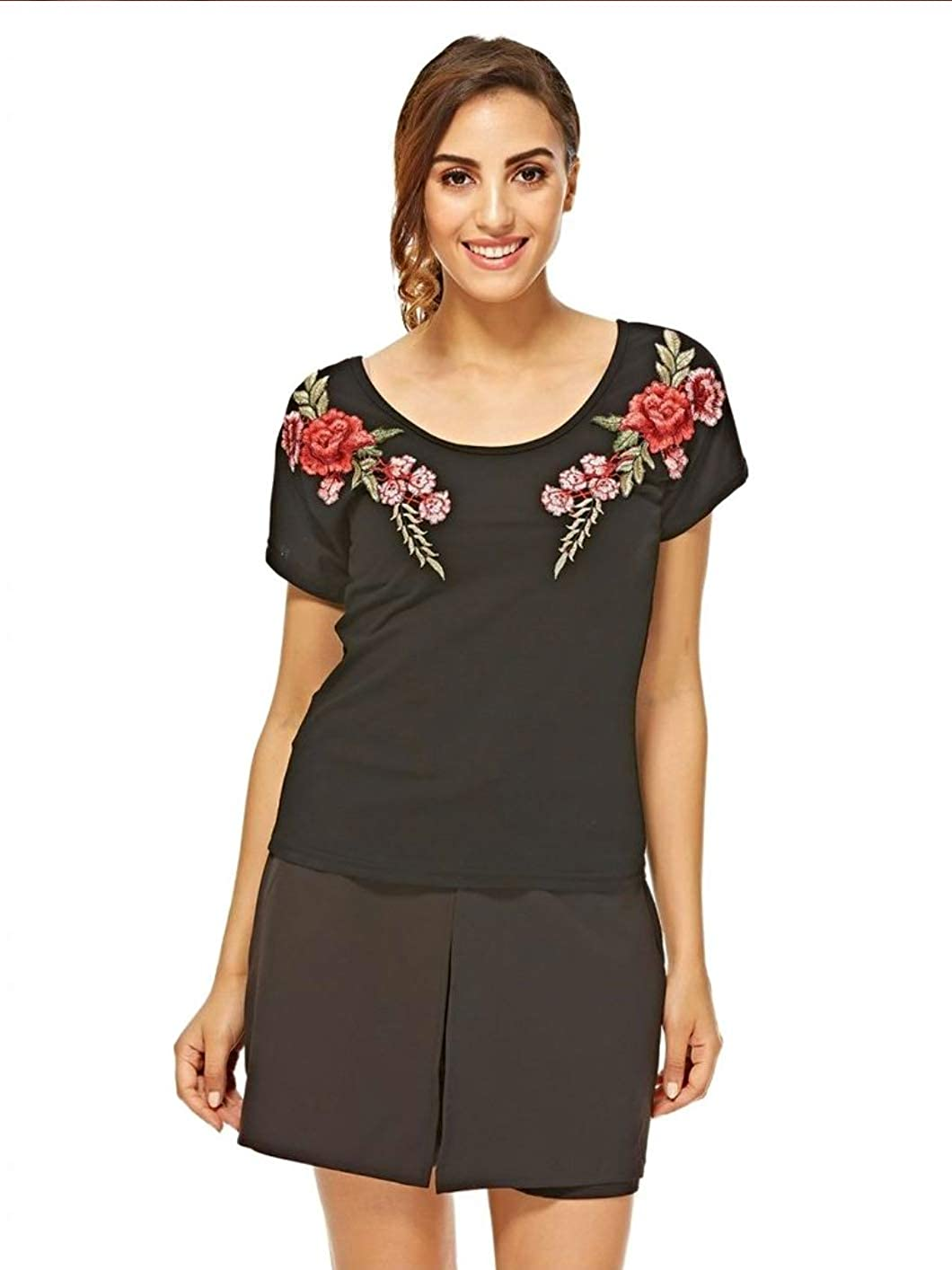 Cross Back TOP with Embroidery