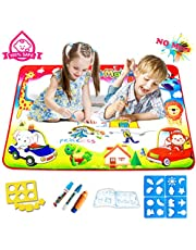 Water Doodle Mats, FishOaky 23*34 inches 4 Colors Aqua Magic Mat Educational Toys & Xmas Gifts for Boy Girl Toddlers Age 1- 12