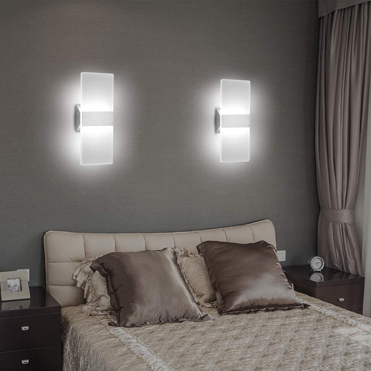 Modern Led Acrylic Wall Sconce 12w Cool White Up Down Lamp For Bedroom Corridor Stairs Bathroom