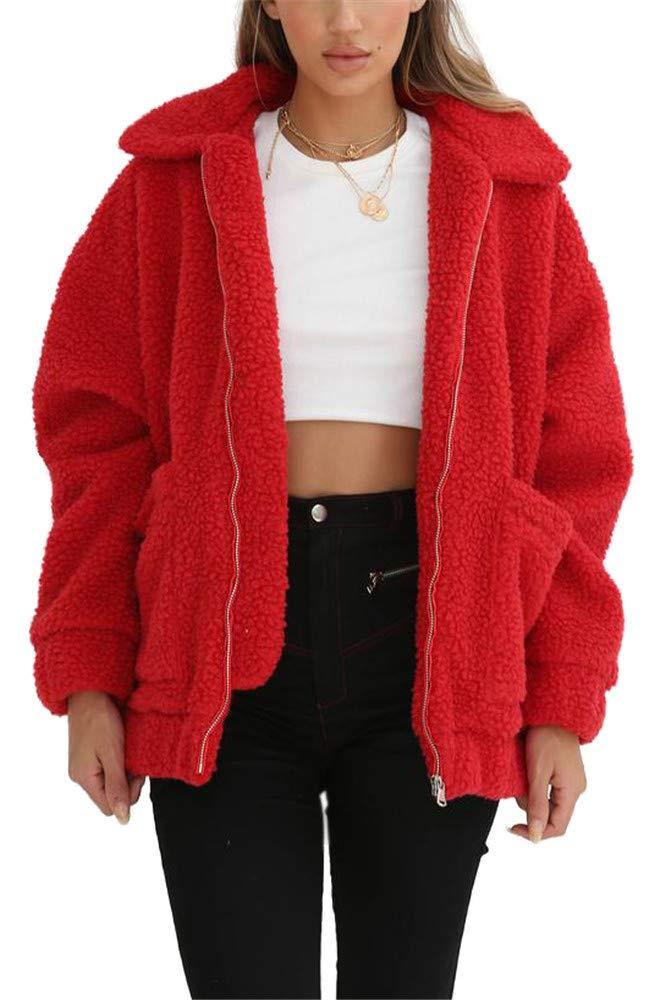 Miss Floral® Womens Oversized Faux Fur Teddy Bear Coat 6 Colour Size 8-18 Legendary Anpire Limited