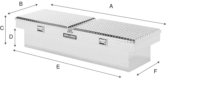 Lund 5150DB Challenger Series Brite Gull-Wing Crossover Specialty Deep Storage Box
