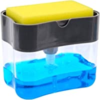 Soap Dispenser | Soap Pump & Sponge Caddy | 2-in-1 Dish Dispenser With Sponge | Dishwashing Soap Holder | Sponge Rack…