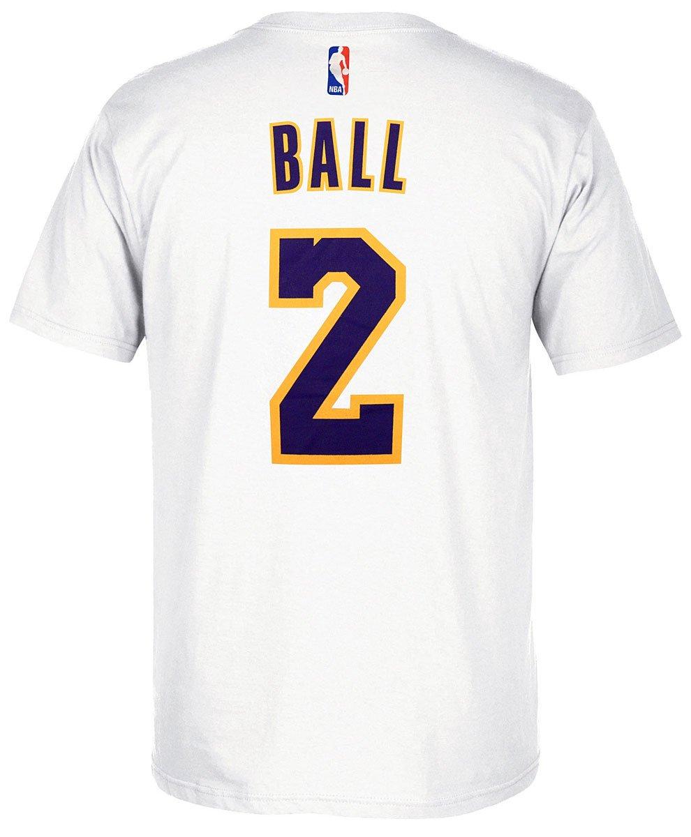 Adidas Lonzo Bola los Angeles Lakers Camiseta Blanca Nombre y número, Hombre, Blanco: Amazon.es: Deportes y aire libre