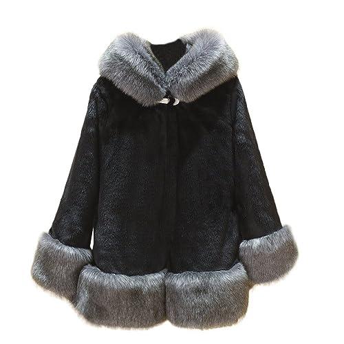 HARRYSTORE Abrigo Largo manga de Piel - moda invierno mujer 2017