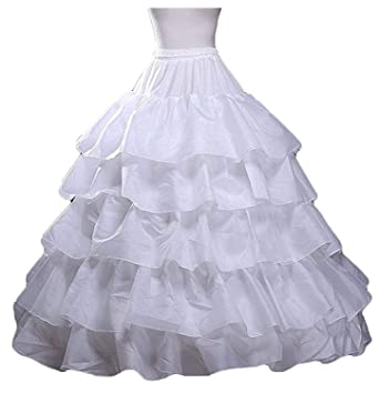 AIBIYI Womens Petticoat Skirts Ball Gown Layered Crinoline Underskirt P3
