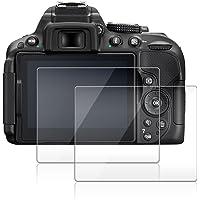 Camera Screen Protector Compatible Nikon D5600 D5500 D5300, AFUNTA 2 Pack Anti-Scratch Tempered Glass