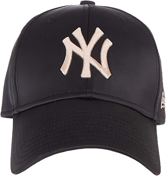 A NEW ERA Gorra Mujer 9FORTY satén MLB York Yankess Negro-Rosa ...