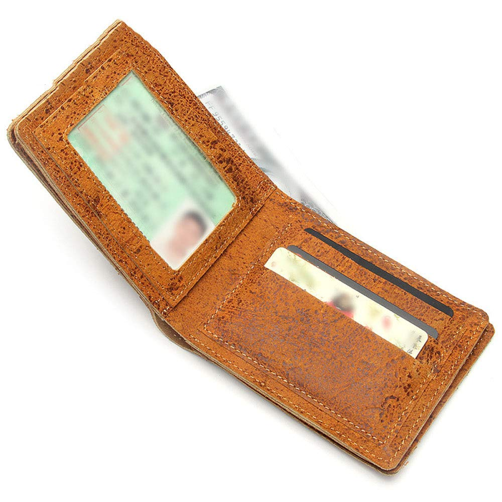 Myzixuan New Wallet Retro Mens Leather Short Wallet Fashion Wallet Mens Wallet 10132cm