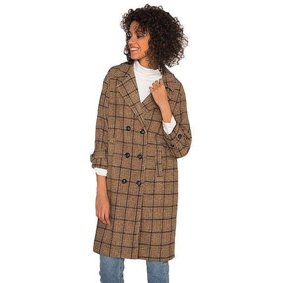 Manteau laine long beige