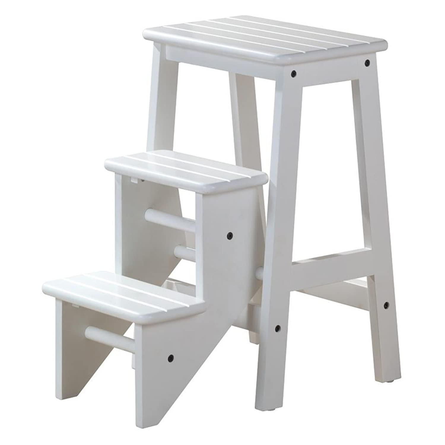"Amazon Step Stool 24"" White Kitchen & Dining"
