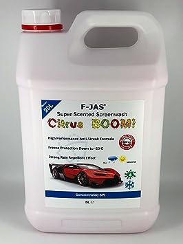 Líquido limpiaparabrisas súper aromático F-JAS (5L, concentrado): Amazon.es: Coche y moto