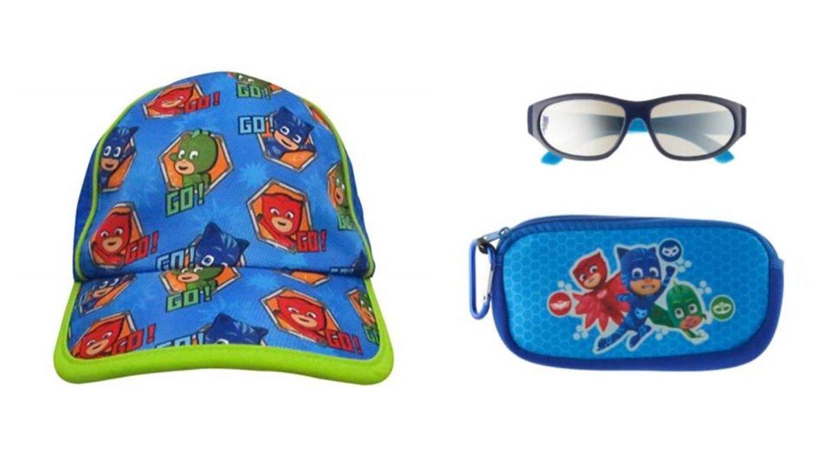 PJMasks Characters Catboy Gecko Owlette UPF 50+Baseball Cap Plus Plus 100% UV Protection Sunglasses + Case by Custom Bundled Products