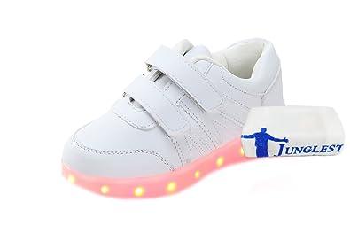 c1 EU 34,[+Kleines Handtuch] Korean männliche blinken Mode-Schuhe, und LED-Licht-emittierende Klettverschluss Lichter weibliche Schuhe mit Kindersch
