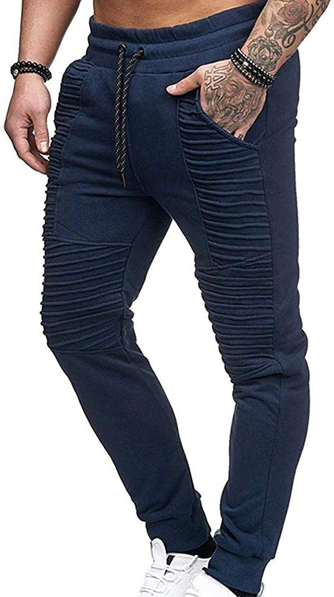 Hibasing Pantalones Ajustados para Hombres Pantalones ...