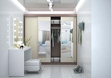 greta with four sliding mirror door wardrobe amazon co uk health