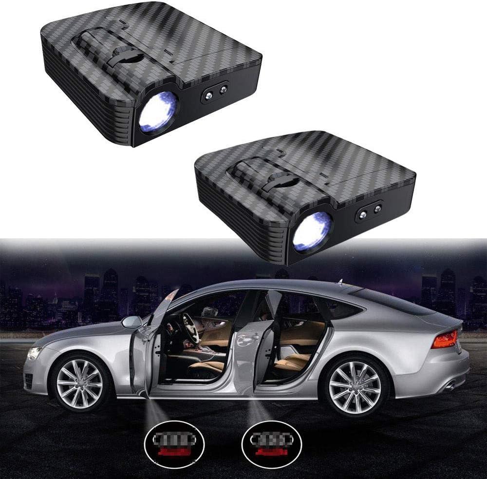 MIVISO Verbesserte Autot/ür Led Logo Projektor Licht Kein Magnet Drahtlose Lampe Willkommen Ghost Shadow Licht 2 ST/ÜCKE Kein Magnet