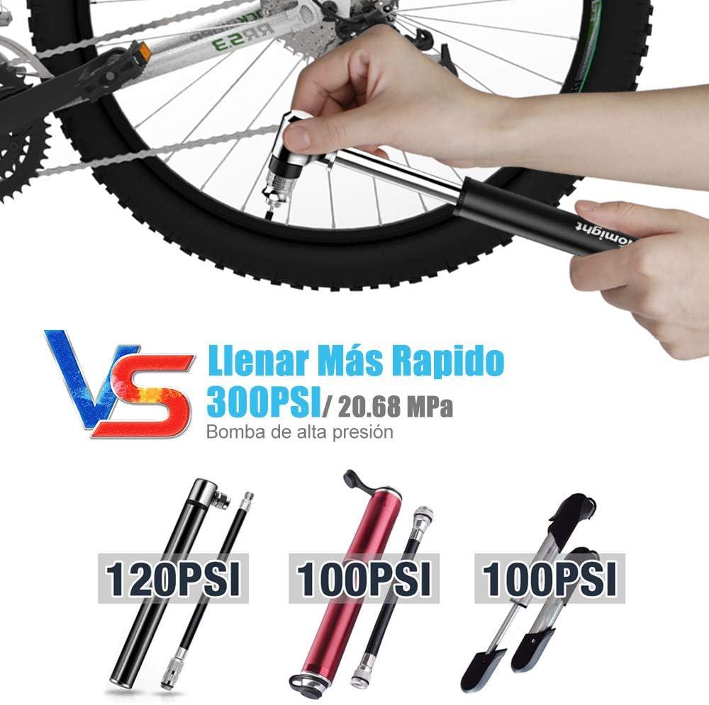 tomight Mini Bomba para Bicicleta,Bomba de Mano pequeña con ...
