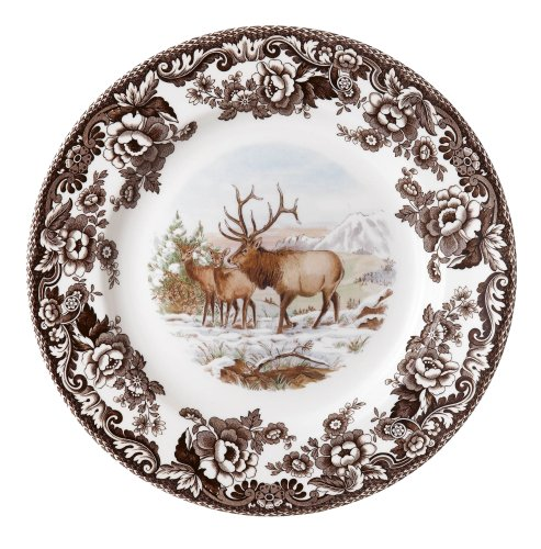 Spode Woodland American Wildlife Elk Salad Plate American Wildlife Collection Dinner Plate