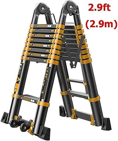 Escaleras Telescópicas Multifunción Escalera telescópica de aluminio multipropósito de 9,5 pies, escalera extensible de bricolaje portátil resistente de 2.9 m para la oficina de loft en el hogar, capa: Amazon.es: Hogar