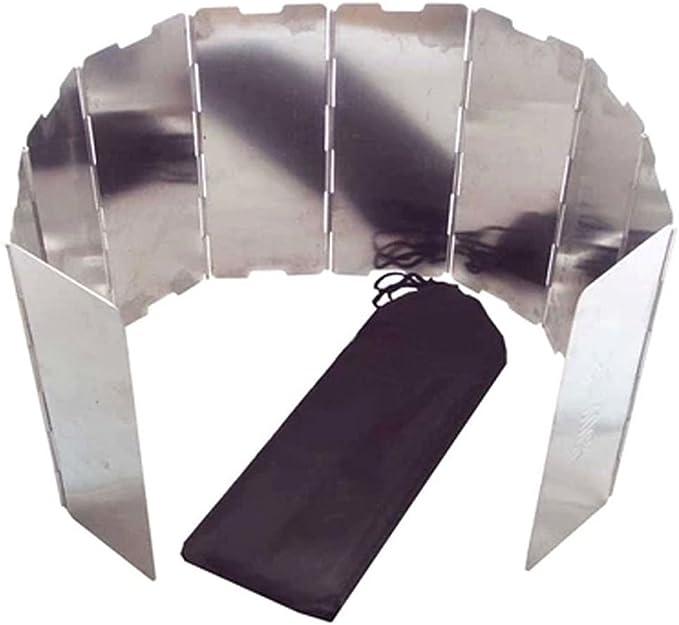 Parabrisas - AOTU 10 placas Plegable Acampa Cocina al aire libre Utensilios de cocina Estufa de gas Aleacion de aluminio Pantallas de viento ...