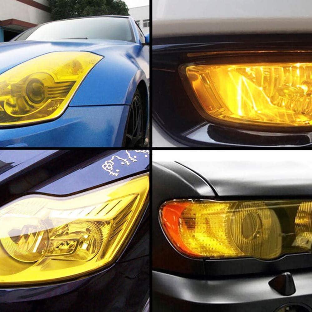 Car Light Film SUNWAN Cars Headlight Rear Lights TailLight Fog Lamp Tint Vinyl Film Cover Protective Window Tinting Film Yellow 30x180cm