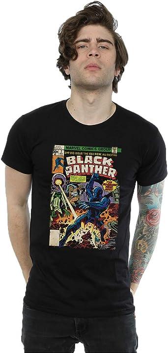 Marvel hombre Black Panther Cover Camiseta: Amazon.es: Ropa y accesorios
