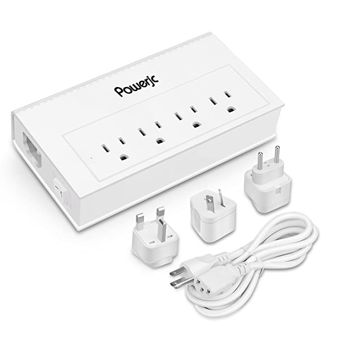 Amazon Com Travel Power Strip Usb Adapter 4 Outlets With High Speed