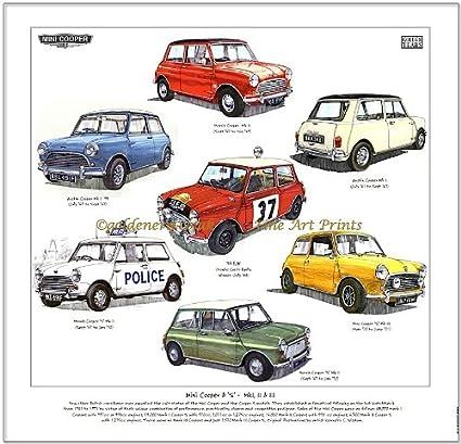 Classic Mini Cooper S Print Cooper Mki Mkii Mkiii 1275