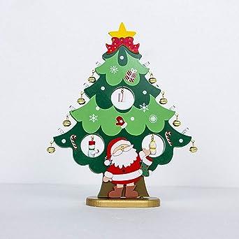 2019 Lighted Christmas Tree Ornaments Santa Claus Snowman Bells Lights Christmas Desktop Lighting Ornaments