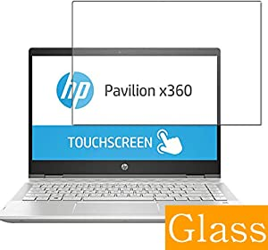 "Synvy Tempered Glass Screen Protector for HP Pavilion x360 14-cd0000 2018 14"" Visible Area Protective Screen Film Protectors 9H Anti-Scratch Bubble Free"
