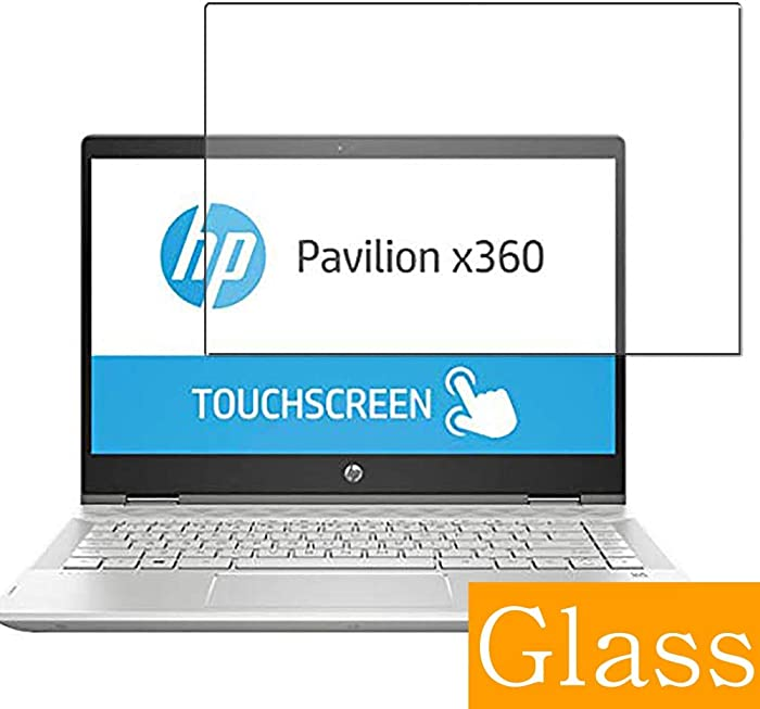 """Synvy Tempered Glass Screen Protector for HP Pavilion x360 14-cd0000 2018 14"""" Visible Area Protective Screen Film Protectors 9H Anti-Scratch Bubble Free"""