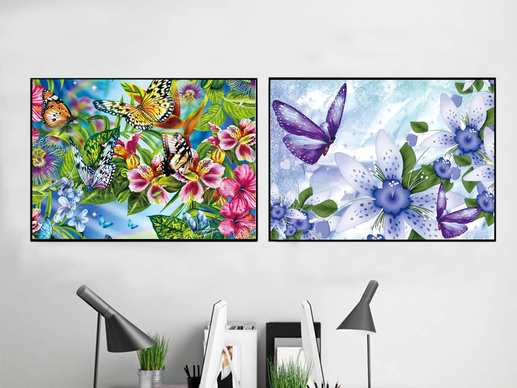 DIY 5D Diamond Painting Kit Round Full Drill Crystal Rhinestone Embroidery Cross Stitch Arts Craft Canvas Supply for Home Wall Decor Adults and Kids