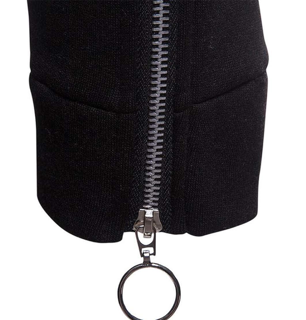 XiaoTianXinMen XTX Men Pockets Basic Hooded Zip-Up Drawstring Sweatshirt Jacket