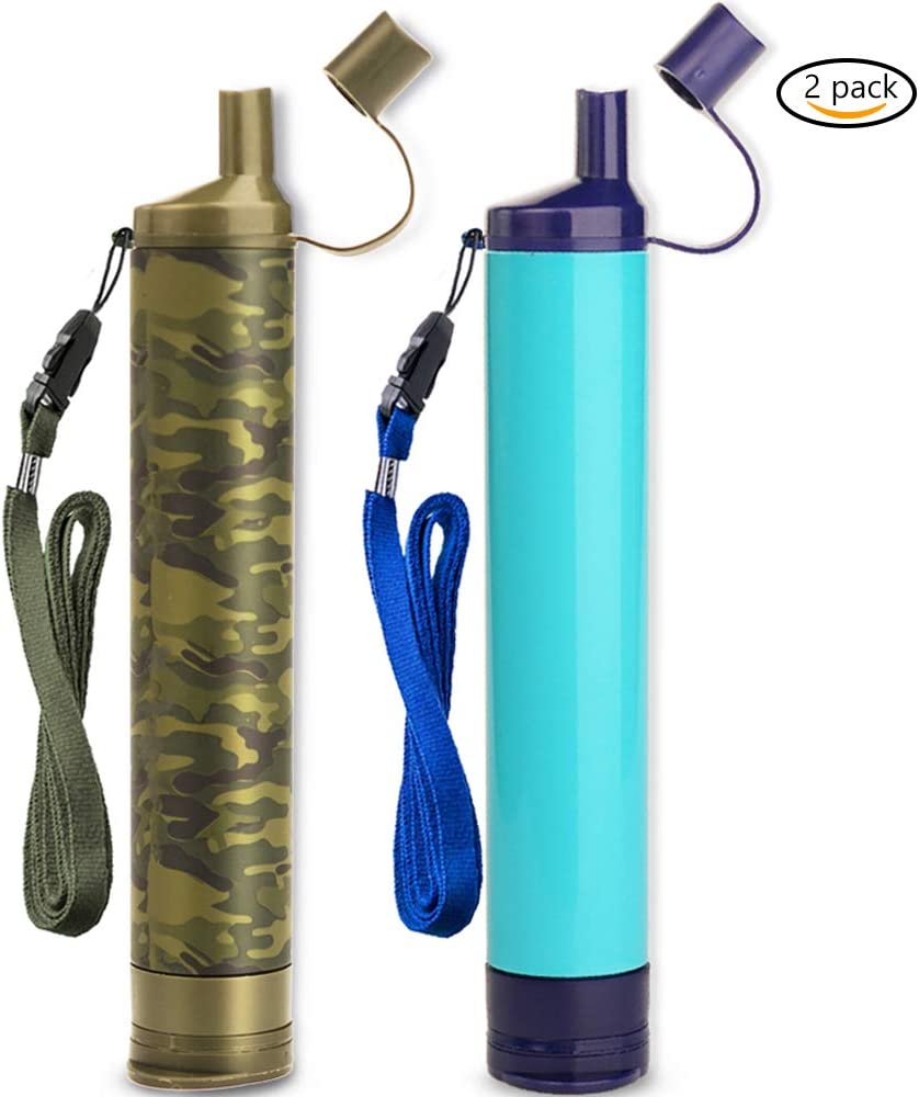 WakiWaki Straw Filter, Straw Water Filter, Hiking Water Purifier, Camping Straw Filter for Backpacking, Drinking Water in Survival Situation