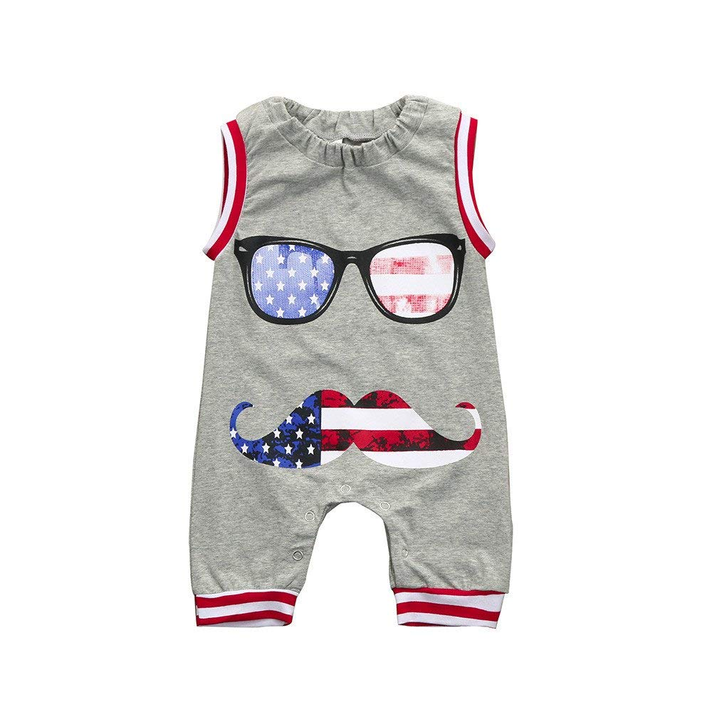178eaf740 Amazon.com  SMALLE Clearance Toddler Kids Baby Boys US Flag Printed ...