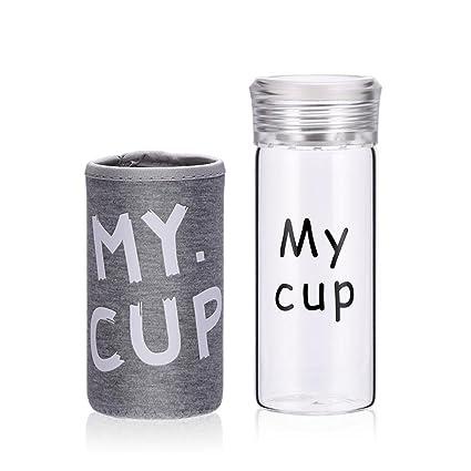 UPSTYLE mi copa Mini deporte portátil botella de agua leche jugo con infusor de té de