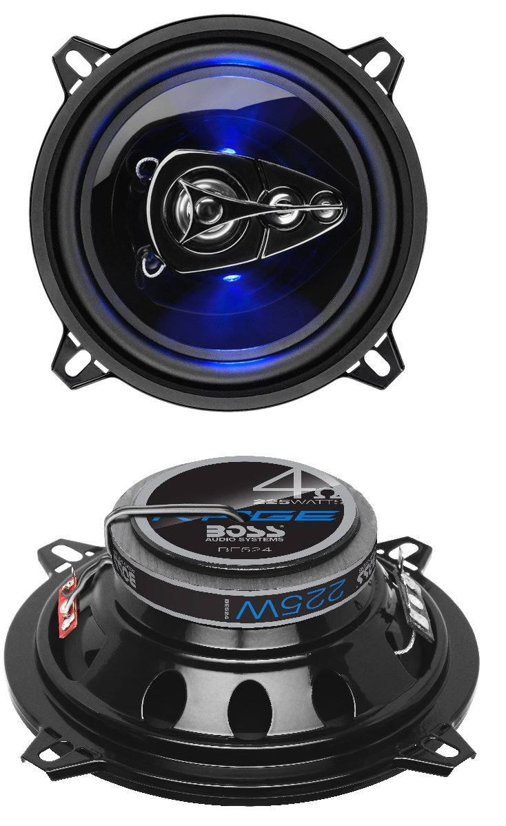 BOSS Audio BE524 225 Watt (Per Pair), 5.25 Inch, Full Range, 4 Way Car Speakers (Sold in Pairs)