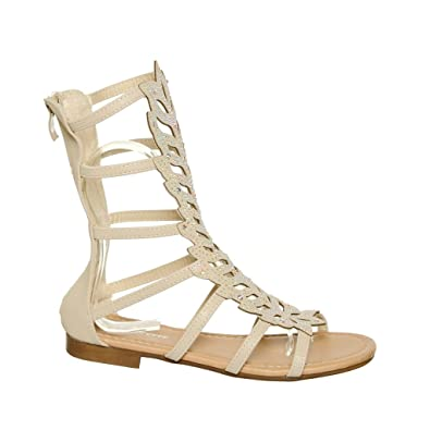 a2ed0aa973cb shoewhatever Mid-Calf Length Gladiator Sandals (6