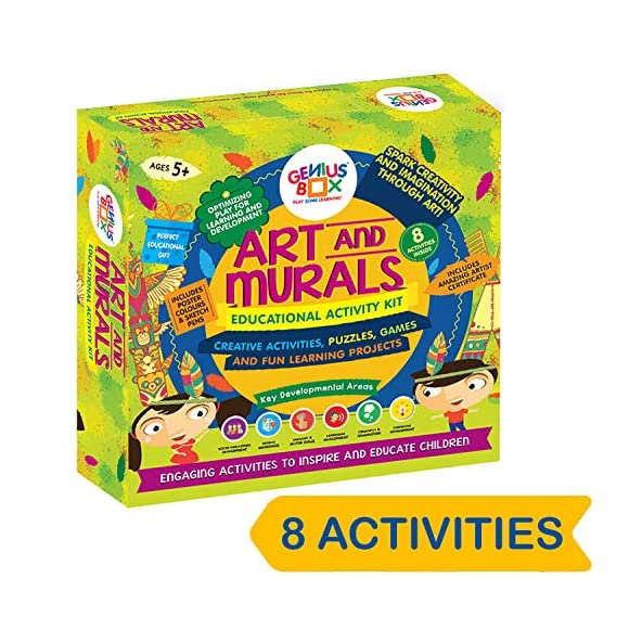 Genius Box Educational Toy for 5+ Year Age: Art and Murals DIY, Activity Kit, Learning Kit, Educational Kit, STEM Toy