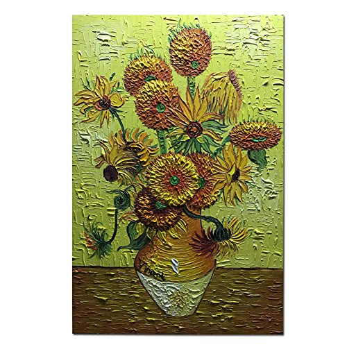 Amei Art Paintings, 2436 Inch The Sunflowers by Vincent Van Gogh - Oil Painting Reproduction on