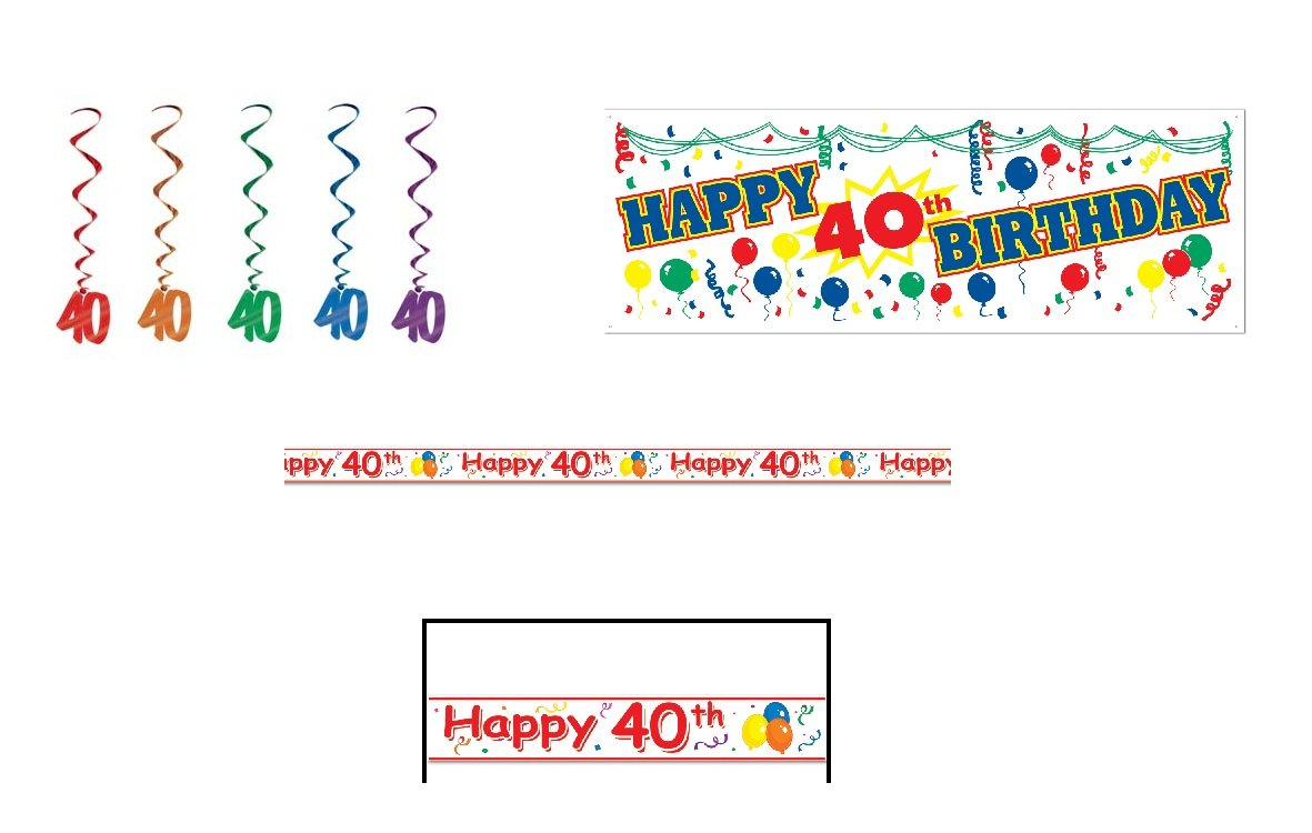 Amazon.com: HAPPY 40th Birthday Party Decorations LOOK Who\'s 40/SIGN ...