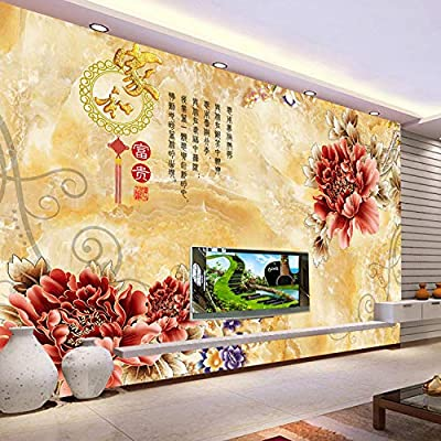 Amazon Com Tv Background Wallpaper 3d Stereo Tv Background Wallpaper 3d Large Mural Living Room Chinese Style Home And Rich Fiber Cloth 200x140cm Home Improvement
