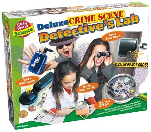 Small World Toys Deluxe Crime Scene Detective's Lab Science Kit