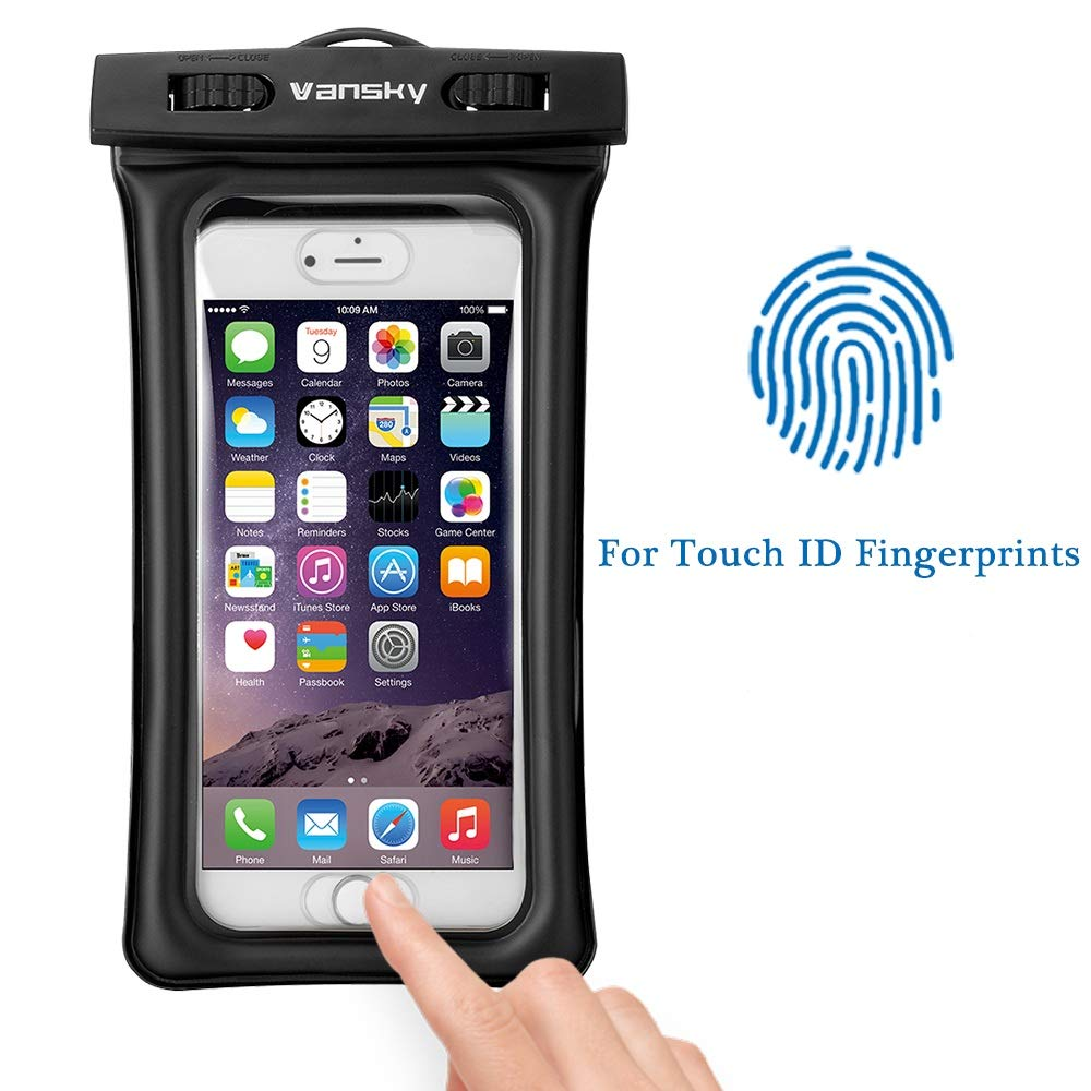 Floatable Waterproof Phone Case, Vansky Waterproof Phone Pouch Dry Bag with Armband and Audio Jack for iPhone X, 8 Plus, 8, 7 Plus, 7, 6s, 6, Andriod; TPU Construction IPX8 Certified by Vansky (Image #3)