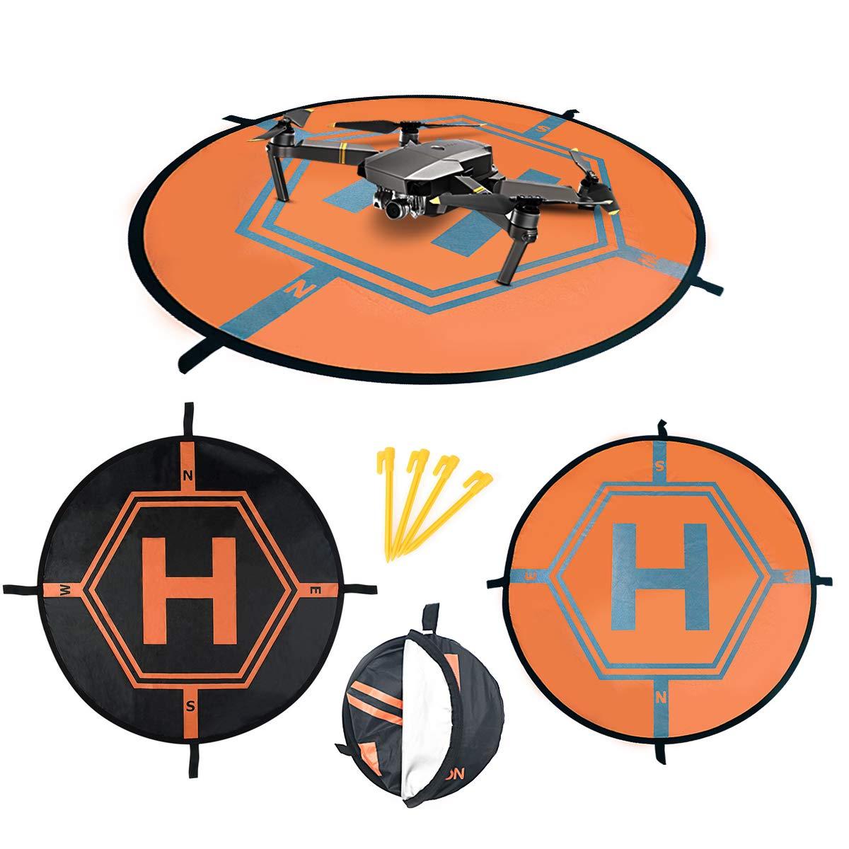 UKON Landing Pad Drone dji Helipad Reflectante Plegable 75CM para ...