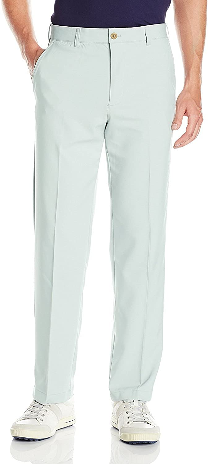 IZOD Men's Golf Performance Straight Fit Flat Front Stretch Pant