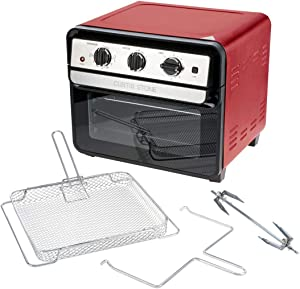 Curtis Stone Dura-Electric 1700-Watt 22L Air Fryer Oven w/Rotisserie Model 698-469 (Red)