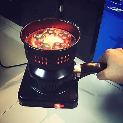 Bandeja extraíble con quemador de carbón eléctrico + pinzas Estufa de carbón espesado