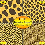 Cheetah Pattern Printed Heat Transfer Vinyl (Style B - 12 x 24)